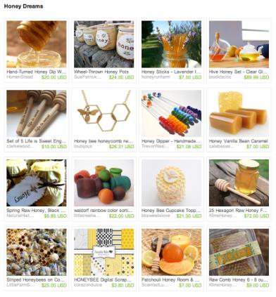 Honey Dreams Etsy Treasury