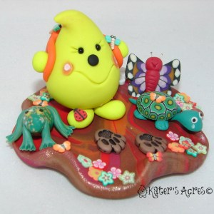 Fall Hiking Parker StoryBook Scene by KatersAcres - Polymer Clay Figurine