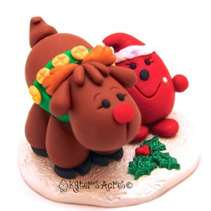 Parker & Rudolf StoryBook Scene - Twelve Days of Christmas Figurine 7