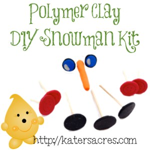 DIY Polymer Clay Snowman Kit Weekend Project on @KatersAcres Blog