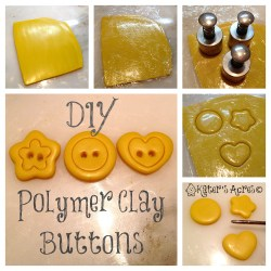 Polymer Clay Tutorial for Simple Buttons on KatersAcres Blog https://katersacres.com