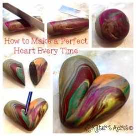 Polymer Clay Tip: How to Make a Heart by KatersAcres