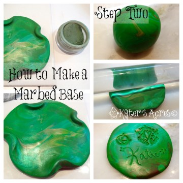 How to Make a Marble Blend - Polymer Clay How-To Tutorial on KatersAcres Polymer Clay Blog https://katersacres.com