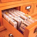 Library Card Catalog - Polymer Clay Storage