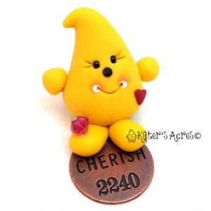 """Parker Expressions """"Cherish"""" Polymer Clay Figurine by KatersAcres"""