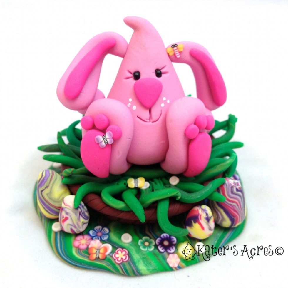 Easter Bunny Parker StoryBook Scene Figurine by KatersAcres