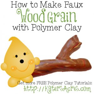 How to Make Polymer Clay Wood Grain Tutorial by KatersAcres