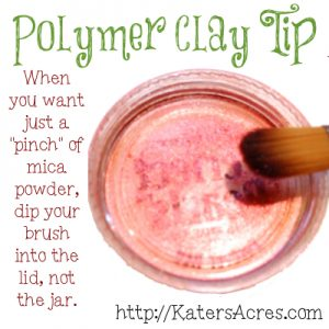 Polymer Clay Tip - Mica Powder Trick at KatersAcres Polymer Clay Website
