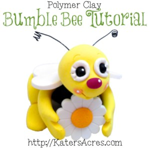 Polymer Clay Bumble Bee Tutorial by KatersAcres