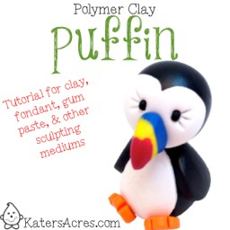 PIN NOW, MAKE LATER: Polymer Clay Puffin Tutorial by KatersAcres | Great for fondant, gum paste, clay, & much more!