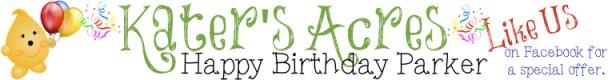 Happy Birthday Parker Banner