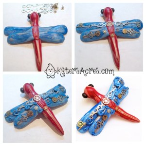 How to Make a DragonFly Pin - Adding the Details by KatersAcres