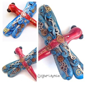 How to Make a DragonFly Pin - Antiqued Difference by KatersAcres