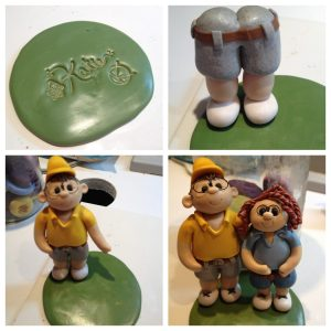 The Making of a Custom Order Cake Topper for a 25 Year Rifle Team Captain Celebration by KatersAcres
