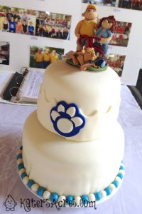 Custom Order Cake Topper for a 25 Year Rifle Team Captain Celebration by KatersAcres | Cake by A Flexible Life's, Jennifer