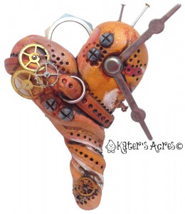 Steampunk Heart Pendant by KatersAcres for the Friesen Project of 2013