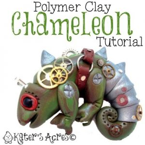 Polymer Clay Chameleon Tutorial by KatersAcres for the 2013 Friesen Project