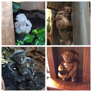 Menehune statues throughout Walt Disney's Aulani Resort in Hawaii