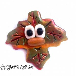 Polymer Clay Leaf Pin by KatersAcres | Get the Tutorial on the Website