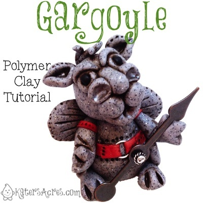 Polymer Clay Gargoyle Tutorial by Kater's Acres | Suitable for Fondant, Sugar Paste, Gum Paste, & Other Modeling Materials