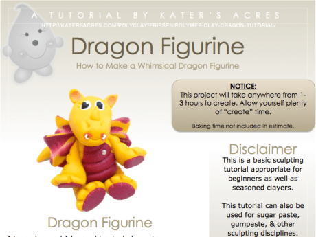 Polymer Clay Dragon Tutorial Figurine PDF eBook by KatersAcres