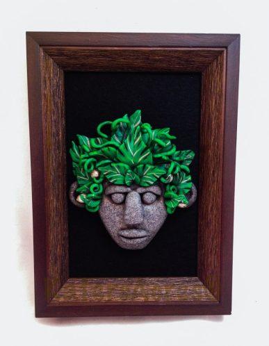 Menehune Tribal Mask by Katie Oskin of KatersAcres