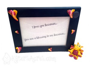Love Dragon Picture Frame with PDF Love Dragon Tutorial by KatersAcres