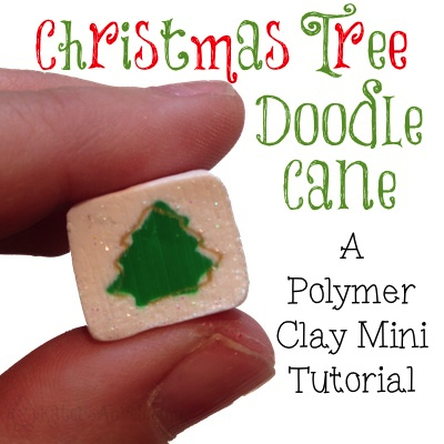Christmas Doodle Cane - Polymer Clay Tutorial by KatersAcres