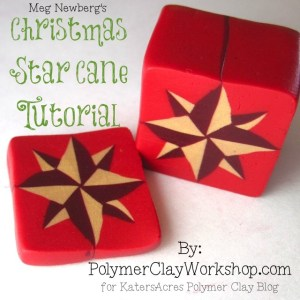 Meg Newberg Polymer Clay Christmas Cane Tutorial on KatersAcres Polyclay Blog