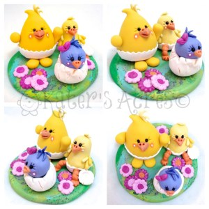 Easter Spring Chick Parker StoryBook Scene by KatersAcres | Available for adoption in KatersAcres Etsy store
