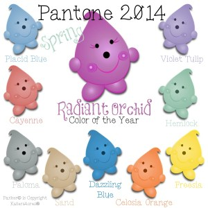 Pantone 2014 Spring Color Palette Featuring the Beloved Parker© from KatersAcres®