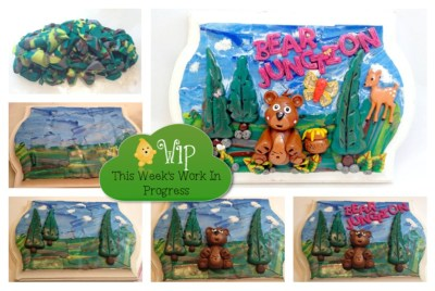 WIP Wednesday: Bear Junction Polymer Clay Wall Hanging Walk Through with KatersAcres