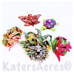 KatersAcres Polymer Clay Creations During the Christi Friesen Clay-a-thon Weekend in Ohio in May 2014
