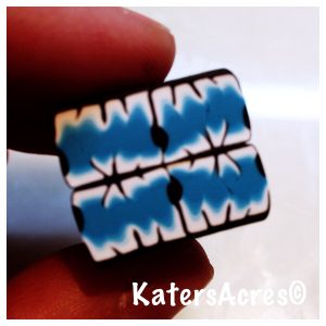 Polymer Clay Kaleidoscoped Static Cane by KatersAcres