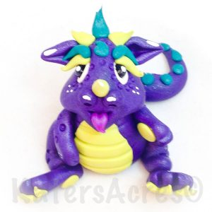 """""""Bumper-Sprite"""" Polymer Clay Dragon by KatersAcres"""