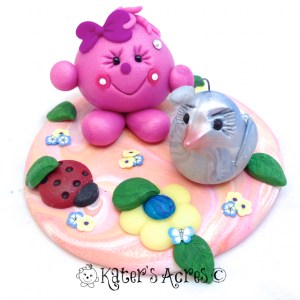 Lolly & Bird StoryBook Scene Figurine by KatersAcres | Handmade from polymer clay
