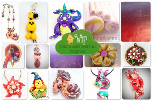 Polymer Clay Studio WIP Wednesday | Oodles of creations, experiments, projects, & tutorials too from KatersAcres
