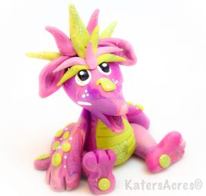 """Polymer Clay Dragon """"Pinkie"""" by KatersAcres"""