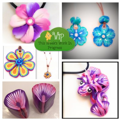 WIP Wednesday: A Flowery Week in KatersAcres Polymer Clay Studios