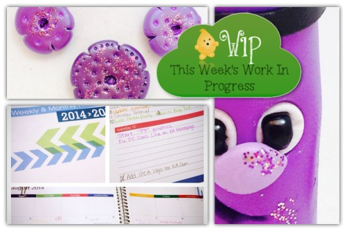 WIP Wednesday in KatersAcres Polymer Clay Studio | A Short & Sick Week, Yuck!