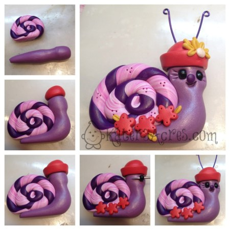Polymer Clay Snail Tutorial by KatersAcres