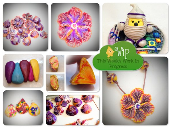 WIP Wednesday: A Week of Polymer Clay Canes in KatersAcres Polymer Clay Studio