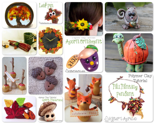 14 Fall Polymer Clay Tutorials from Around the Web