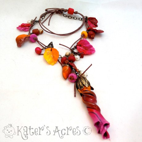 Fall Festival Necklace by KatersAcres | Tutorial available by clicking on the link