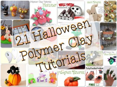 21 Halloween Tutorials for Polymer Clay