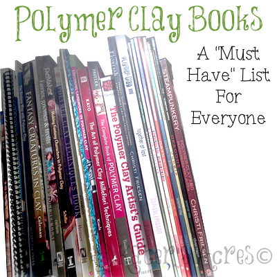 """Top Shelf Polymer Clay Books by KatersAcres 