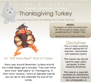 Polymer Clay Turkey Tutorial by KatersAcres