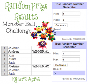 Monster Ball Challenge by KatersAcres | RESULTS