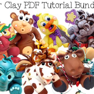 Polymer Clay Tutorials PDF Bundle Pack of 34 Tutorials from KatersAcres