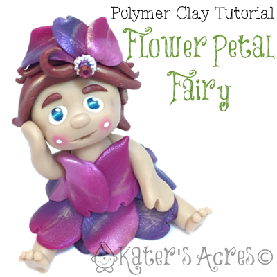 Flower Petal Fairy Polymer Clay Tutorial by KatersAcres
